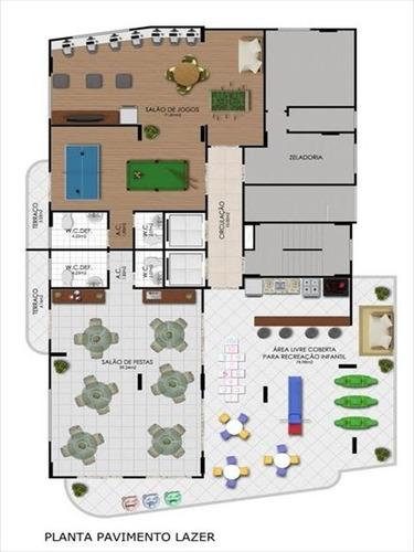 ref.: 1878 - apartamento em praia grande, no bairro aviacao - 2 dormitórios