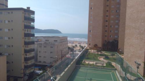 ref.: 1889 - apartamento em praia grande, no bairro vila guilhermina - 2 dormitórios