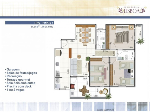 ref.: 1900012101 - apartamento em praia grande, no bairro ocian - 3 dormitórios