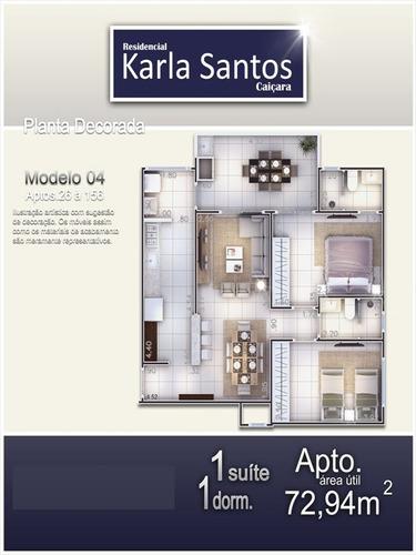 ref.: 1900012401 - apartamento em praia grande, no bairro caicara - 2 dormitórios