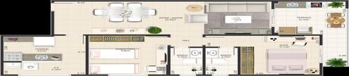 ref.: 1908 - apartamento em praia grande, no bairro canto do forte - 2 dormitórios