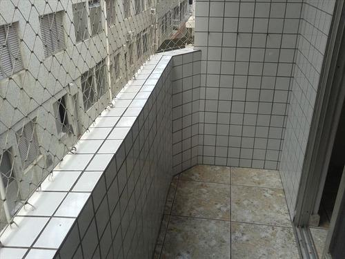 ref.: 1937 - apartamento em praia grande, no bairro boqueirao - 2 dormitórios