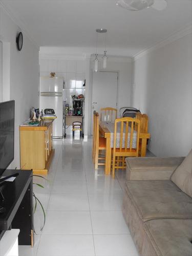 ref.: 1957 - apartamento em praia grande, no bairro boqueirao - 2 dormitórios
