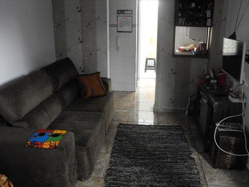 ref.: 2019 - casa condomínio fechado em praia grande, no bairro guilhermina - 2 dormitórios