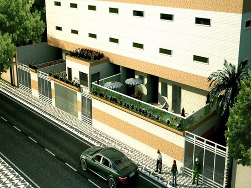 ref.: 2026 - apartamento em praia grande, no bairro caicara - 2 dormitórios