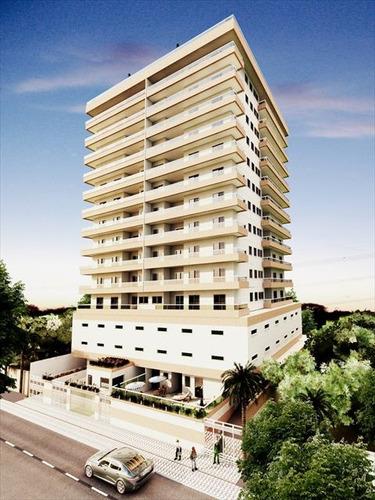 ref.: 2027 - apartamento em praia grande, no bairro caicara - 2 dormitórios