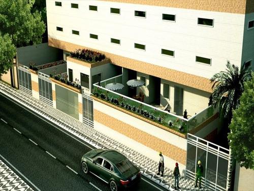 ref.: 2029 - apartamento em praia grande, no bairro caicara - 1 dormitórios