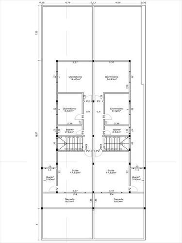 ref.: 20372601 - casa em praia grande, no bairro guilhermina - 3 dormitórios