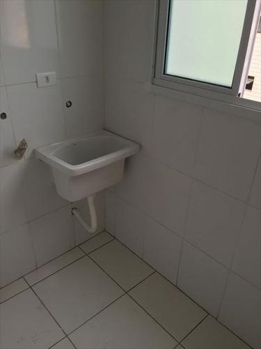 ref.: 2040 - apartamento em praia grande, no bairro guilhermina - 2 dormitórios