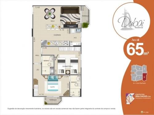 ref.: 2064 - apartamento em praia grande, no bairro canto do forte - 2 dormitórios