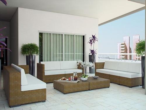 ref.: 2121 - apartamento em praia grande, no bairro canto do forte - 3 dormitórios