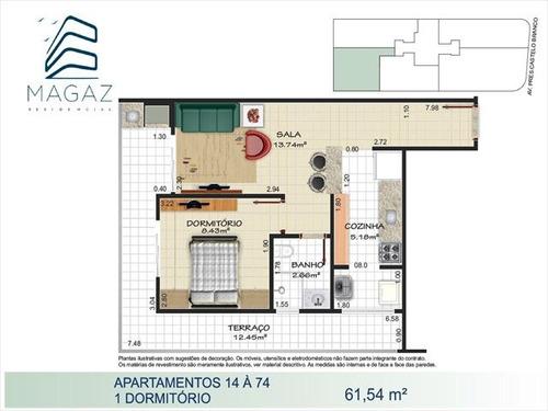 ref.: 2203 - apartamento em praia grande, no bairro florida - 1 dormitórios