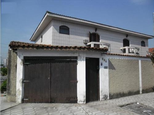 ref.: 220400 - casa em praia grande, no bairro guilhermina - 3 dormitórios