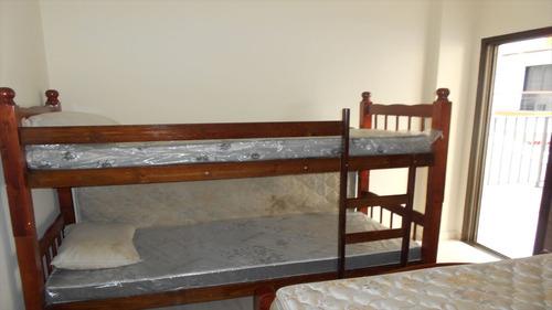 ref.: 2219 - apartamento em praia grande, no bairro vila guilhermina - 1 dormitórios