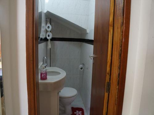 ref.: 224400 - casa condomínio fechado em santos, no bairro macuco - 3 dormitórios