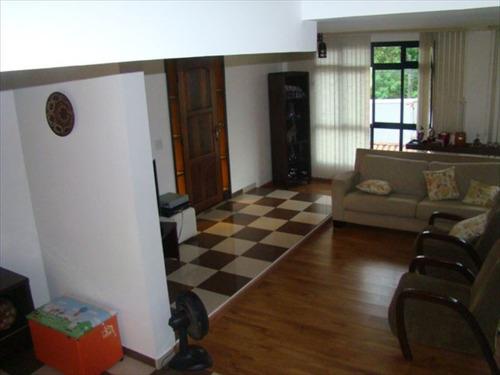 ref.: 224500 - casa em santos, no bairro morro de nova cintra - 3 dormitórios
