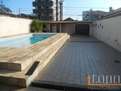 ref.: 2255 - casa em praia grande, no bairro guilhermina - 2 dormitórios