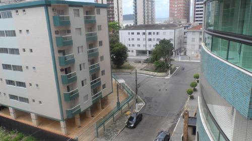 ref.: 2269 - apartamento em praia grande, no bairro vila guilhermina - 2 dormitórios