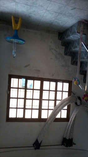 ref.: 231 - casa em itanhaém, no bairro gaivota - 3 dormitórios