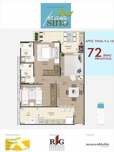 ref.: 2310 - apartamento em praia grande, no bairro canto do forte - 2 dormitórios
