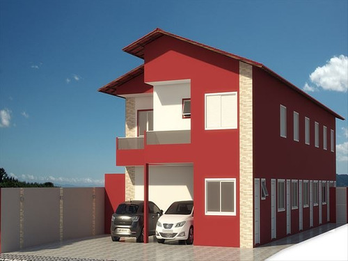 ref.: 2328 - casa condomínio fechado em praia grande, no bairro sitio do campo - 2 dormitórios