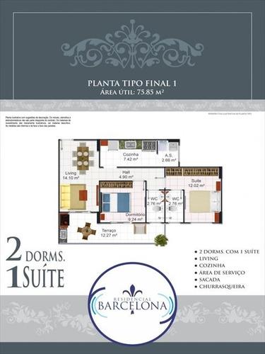 ref.: 2345 - apartamento em praia grande, no bairro aviacao - 2 dormitórios