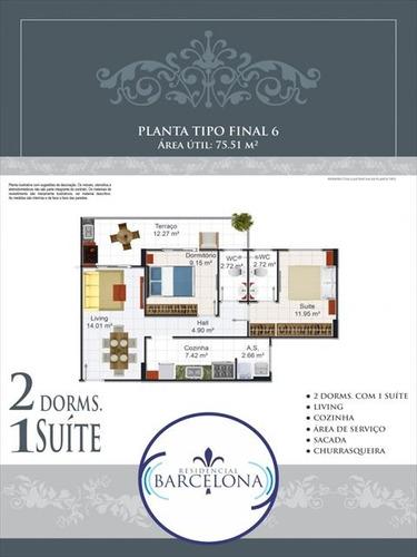 ref.: 2350 - apartamento em praia grande, no bairro aviacao - 2 dormitórios