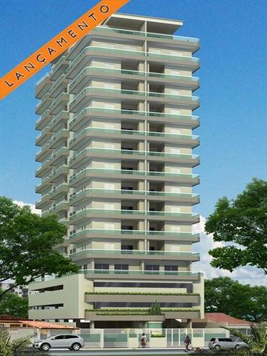 ref.: 2355 - apartamento em praia grande, no bairro guilhermina - 2 dormitórios