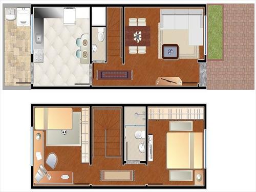 ref.: 2364 - casa condomínio fechado em osasco, no bairro munhoz jr. - 2 dormitórios
