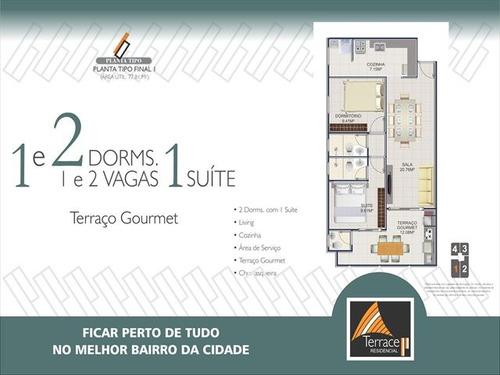 ref.: 2367 - apartamento em praia grande, no bairro canto do forte - 2 dormitórios