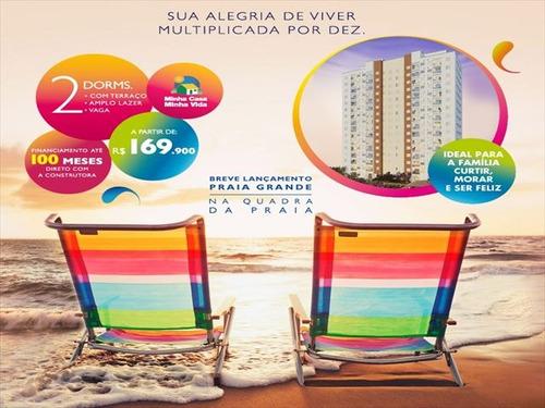 ref.: 2372 - apartamento em praia grande, no bairro ocian - 2 dormitórios