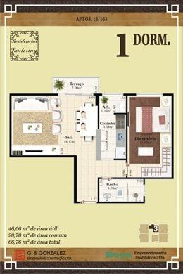 ref.: 23723100 - apartamento em praia grande, no bairro vila