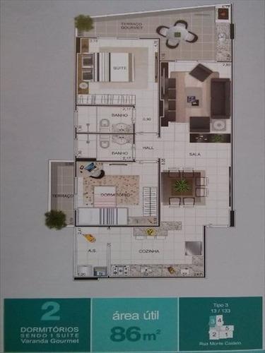 ref.: 2380 - apartamento em praia grande, no bairro aviacao - 2 dormitórios