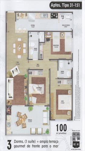 ref.: 24063300 - apartamento em praia grande, no bairro flor
