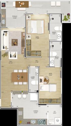 ref.: 24065400 - apartamento em praia grande, no bairro cant