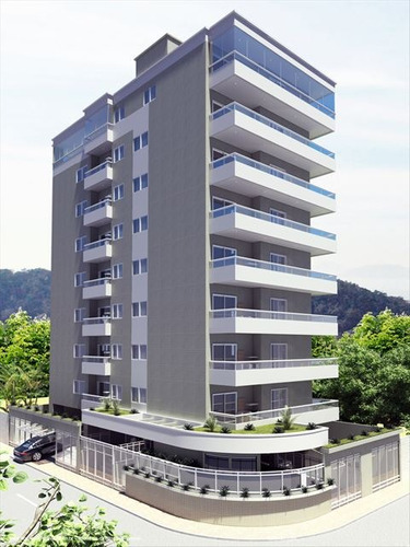 ref.: 2435 - apartamento em praia grande, no bairro mirim - 2 dormitórios