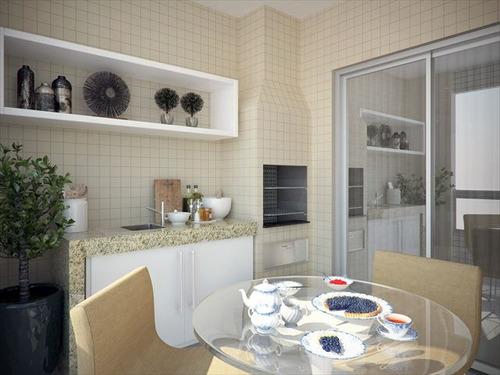 ref.: 2442 - apartamento em praia grande, no bairro guilhermina - 2 dormitórios