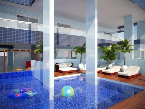 ref.: 2447 - apartamento em praia grande, no bairro tupi - 2 dormitórios