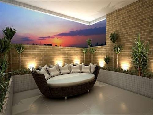 ref.: 2470 - apartamento em praia grande, no bairro tupi - 2 dormitórios