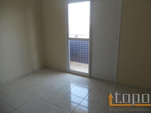ref.: 2488 - casa condomínio fechado em praia grande, no bairro guilhermina - 2 dormitórios