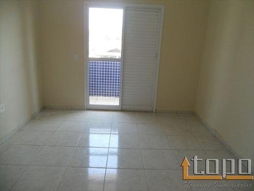 ref.: 2489 - casa condomínio fechado em praia grande, no bairro guilhermina - 2 dormitórios