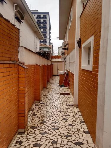 ref.: 258200 - casa em santos, no bairro aparecida - 4 dormitórios