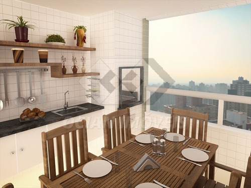 ref.: 260 - apartamento em praia grande, no bairro mirim - 1 dormitórios