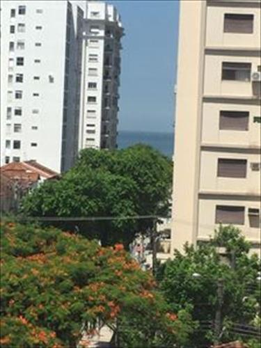 ref.: 266200 - apartamento em santos, no bairro aparecida - 3 dormitórios