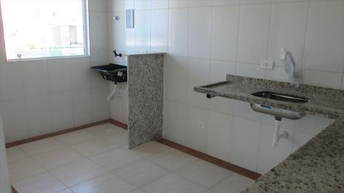 ref.: 270 - apartamento em itanhaém, no bairro satélite - 2 dormitórios