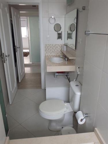 ref.: 274100 - apartamento em santos, no bairro ponta da praia - 3 dormitórios