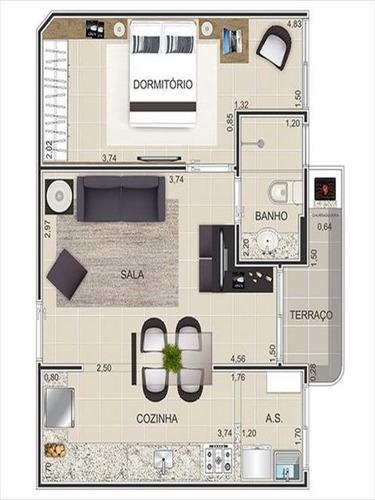ref.: 2836 - apartamento em praia grande, no bairro canto do forte - 1 dormitórios