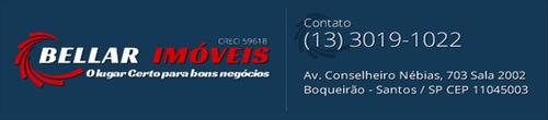 ref.: 283800 - apartamento em santos, no bairro boqueirao - 3 dormitórios