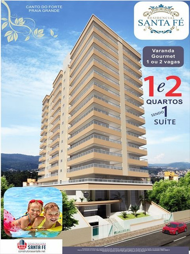 ref.: 2841 - apartamento em praia grande, no bairro canto do forte - 1 dormitórios