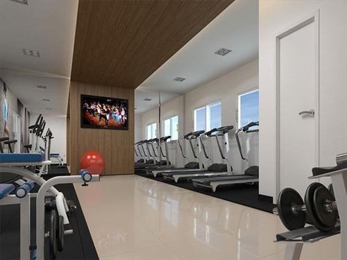 ref.: 2853 - apartamento em praia grande, no bairro guilhermina - 1 dormitórios